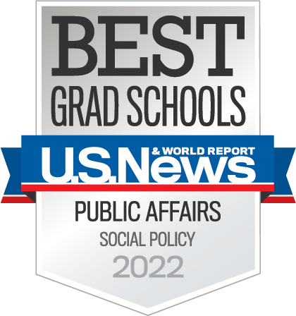 U.S. News and World Report Best Grad Schools Social Policy 2022 Badge