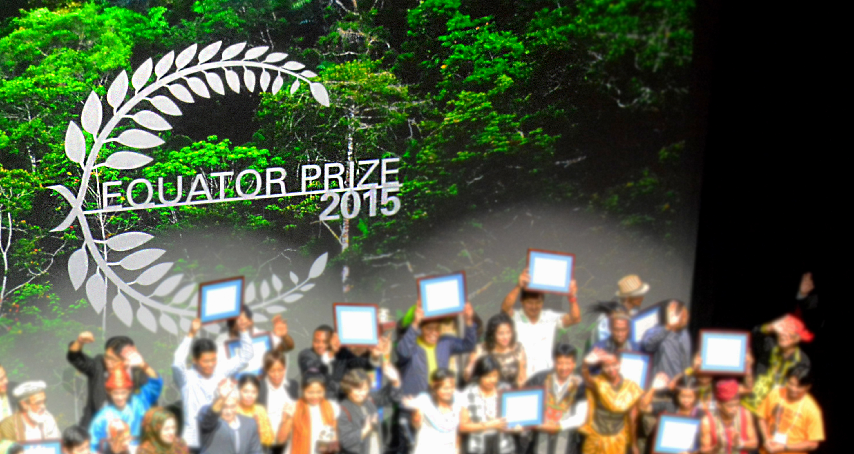 Image of Equator Prize stage