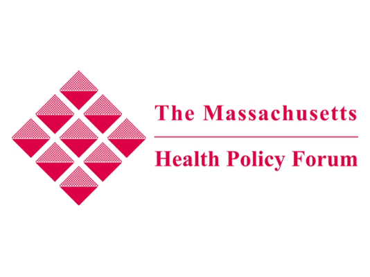 The Massachusetts Health Policy Forum with red diamond logo