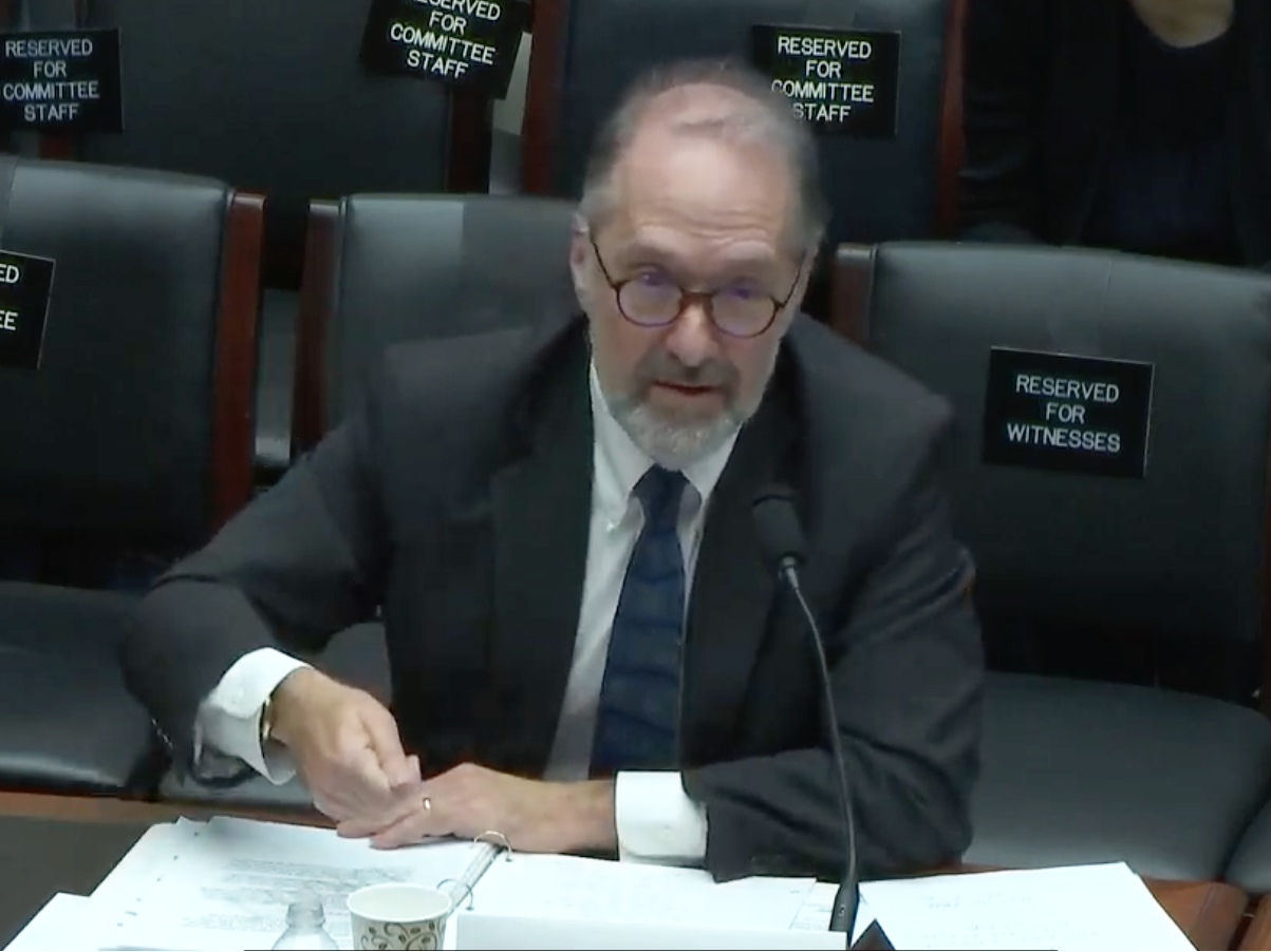 David Weil testifying before the House of Representatives