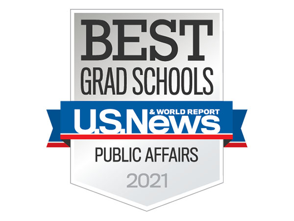 US News and World Report Best Grad Schools Public Affairs 2021 Badge